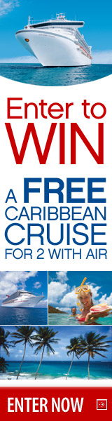 Enter to win a free Caribbean cruise for two!